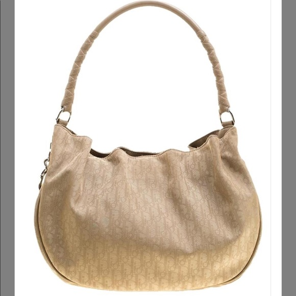 7209c2b31f Dior Bags   Issimo Canvas Lovely Beige Leather Hobo   Poshmark